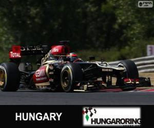 Puzzle de Kimi Räikkönen - Lotus - Gran Premio de Hungría 2013, 2º Clasificado