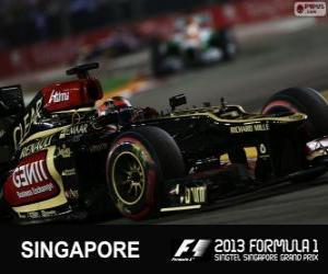 Puzzle de Kimi Räikkönen - Lotus - Gran Premio de Singapur 2013, 3er Clasificado