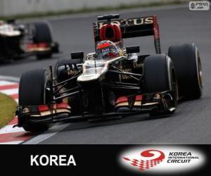 Puzzle de Kimi Räikkönen - Lotus - Gran Premio de Corea 2013, 2º Clasificado