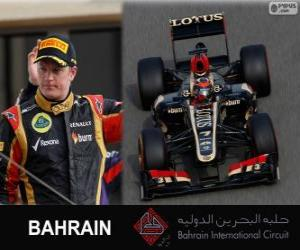 Puzzle de Kimi Raikkonen - Lotus - Gran Premio Bahréin 2013, 2º Clasificado