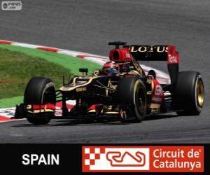 Puzzle de Kimi Raikkonen - Lotus - Gran Premio de España 2013, 2º Clasificado