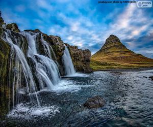 Puzzle de Kirkjufellsfoss, Islandia