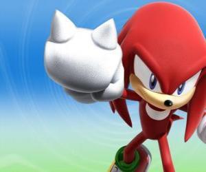 Puzzle de Knuckles Equidna, rival y amigo de Sonic
