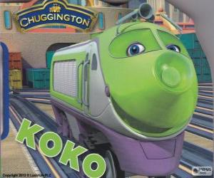 Puzzle de Koko, locomotora eléctrica de Chuggington