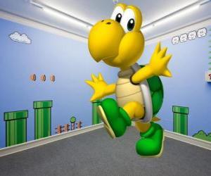 Puzzle de Koopa Troopa, las tortugas bípedas son enemigos en los juegos de Mario