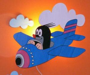 Puzzle de Krtek en avión