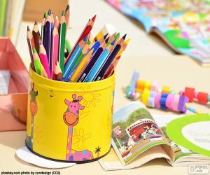 Puzzle de Lápices de colores
