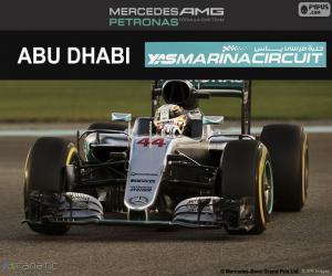 Puzzle de L Hamilton, GP Abu Dhabi 16