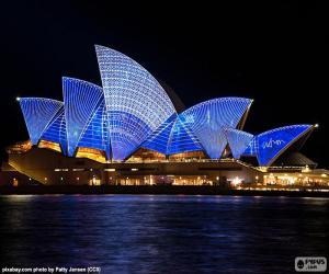 Puzzle de La Ópera de Sídney de noche