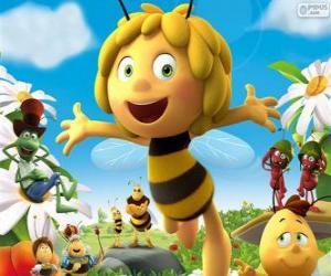 Puzzle de La abeja Maya y otros personajes