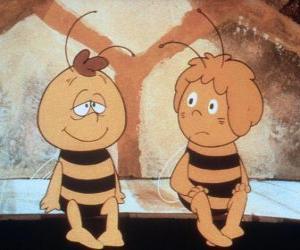 Puzzle de La abeja Maya y su amigo Willi