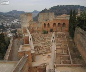 Puzzle de La Alcazaba de la Alhambra, Granada, España