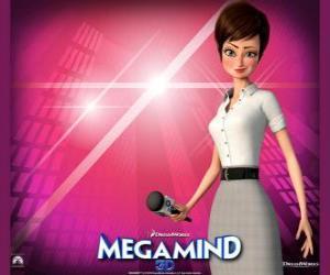 Puzzle de La bella reportera Roxanne Ritchi de quien está enamorado Megamind o Megamente