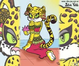 Puzzle de La bella tigresa. Dibujo de Julieta Vitali