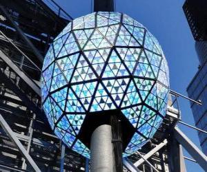 Puzzle de La bola del Año Nuevo, Times Square, Manhattan, Nueva York