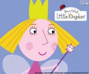 Puzzle de La cara de la pequeña hada, la princesa Holly con su corona
