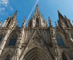 Puzzle de La Catedral de Barcelona, España