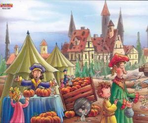 Puzzle de La ciudad de Hamelín está infestada de ratas, los habitantes del pueblo ya no saben lo que hacer