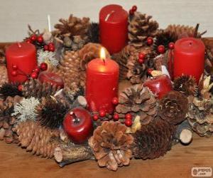 Puzzle de La corona de adviento es una tradición cristiana que simboliza el transcurso de las cuatro semanas de adviento