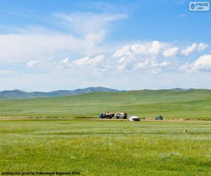 Puzzle de La estepa de Mongolia