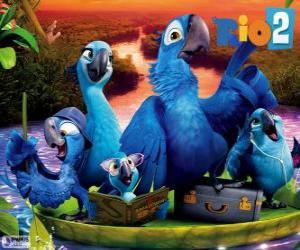 Puzzle de La familia de Blu en el Amazonas