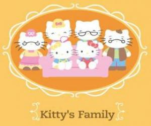 Puzzle de La familia de Hello Kitty