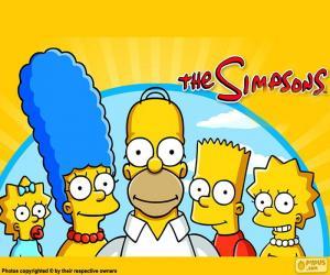 Puzzle de La familia Simpson completa