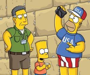 Puzzle de la familia Simpson visita Jerusalem