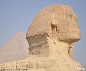 Puzzle de La Gran Esfinge de Giza y las pirámides al fondo, estos monumentos forman parte de la Necrópolis de Giza o Guiza