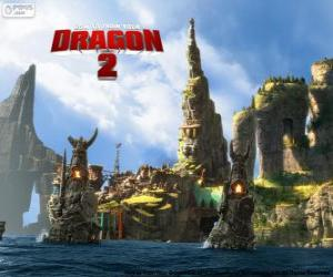 Puzzle de La isla de Berk, Cómo entrenar a tu dragón 2