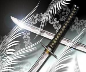 Puzzle de La katana es el arma más famosa de los ninjas y samurais