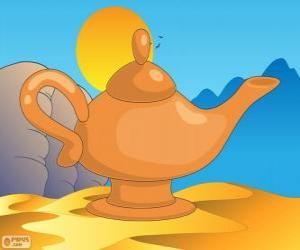 Puzzle de La lámpara maravillosa. La lámpara mágica