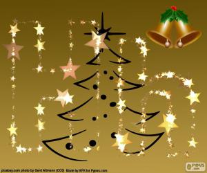 Puzzle de La letra H, Navidad