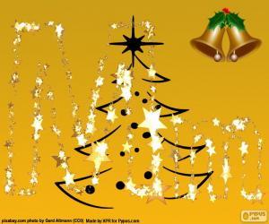 Puzzle de La letra M de Navidad