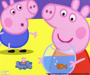 Puzzle de La mascota de Peppa Pig