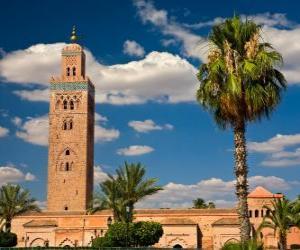 Puzzle de La mezquita Kutubia, Koutoubia o Kutubiya, Marrakech, Marruecos