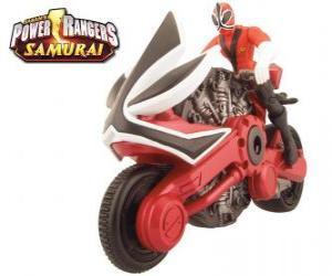 Puzzle de La motocicleta roja, Power Ranger Samurai
