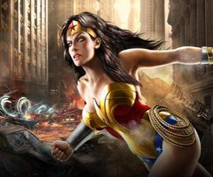 Puzzle de La Mujer Maravilla o Wonder Woman es una superheroína inmortal con poderes similares a los de Superman
