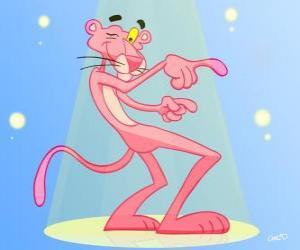 Puzzle de La Pantera Rosa bailando