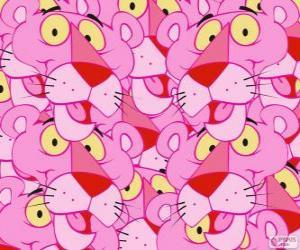 Puzzle de La Pantera Rosa, un divertido personaje de dibujos animados