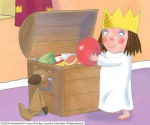 Puzzle de La Pequeña Princesa con su juguetes