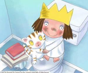 Puzzle de La Pequeña Princesa con su gatito Puss