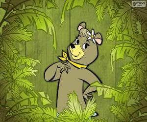 Puzzle de La preciosa osa Cindy es la novia del oso Yogui