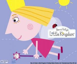 Puzzle de La princesa hada Holly con la varita mágica