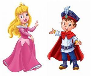 Puzzle de La princesa y el príncipe conversando