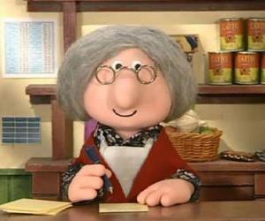 Puzzle de La señora Goggins, la empleada de correos del pueblo de Greendale