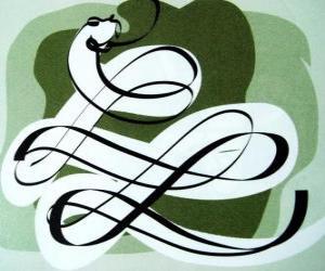 Puzzle de La serpiente, el signo de la Serpiente, el Año de la Serpiente. El sexto de los signos del horóscopo chino