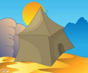 Puzzle de La tienda de los beduinos en el desierto, Jaymah, Jaima