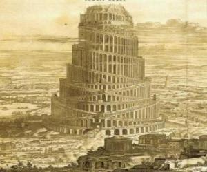 Puzzle de La Torre de Babel con la que los hombres pretendían alcanzar el cielo