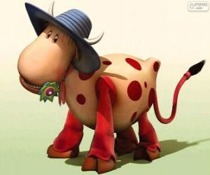 Puzzle de La vaca Ermintrude, uno de los personajes de El Tiovivo Mágico